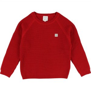 Carrément Beau  - RIB SWEATER RED - Clothing
