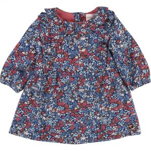 Carrément Beau  - BABY FLORAL DRESS NAVY - Clothing
