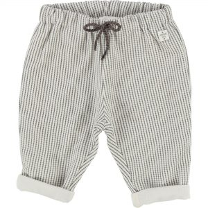 Carrément Beau  - BABY GRID TROUSERS GREY - Clothing