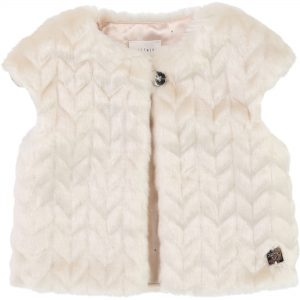 Carrément Beau  - FAKE FUR VEST CREAM - Clothing