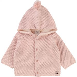 Carrément Beau  - POMPOM HOODED COAT PINK - Clothing