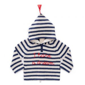 Oeuf NYC  - STRIPED HOODED SWEATER - Clothing