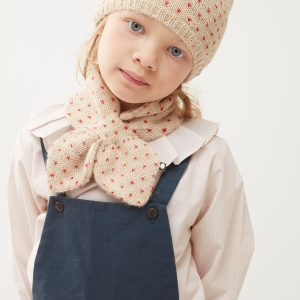 Oeuf NYC  - NECK WARMER BEIGE RED DOTS - Accessories