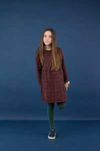 Tinycottons  - GRID FLANNEL DRESS PLUM - Clothing
