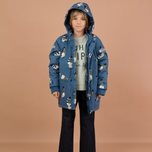 Tinycottons  - PIGEONS SNOW JACKET LIGHT NAVY - Clothing