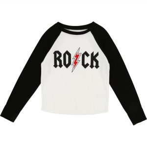 Zadig & Voltaire  - ROCK T-SHIRT BLACK AND WHITE - Clothing