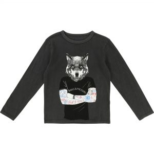 Zadig & Voltaire  - WOLF T-SHIRT BLACK - Clothing