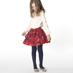 Carrément Beau  - FLORAL TWILL SKIRT RED - Clothing