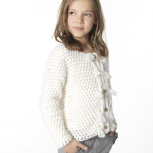 Carrément Beau  - CHUNKY CARDIGAN OFF WHITE - Clothing