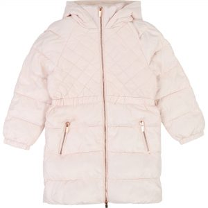Carrément Beau  - LONG HOODED PUFFER JACKET PINK - Clothing