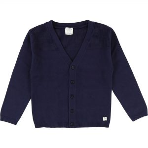 Carrément Beau  - V-NECK CARDIGAN NAVY - Clothing
