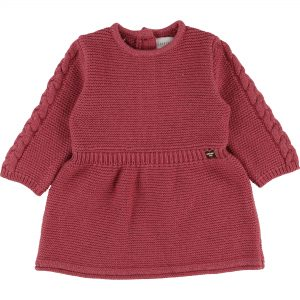 Carrément Beau  - KNITTED BABY DRESS PINK - Clothing