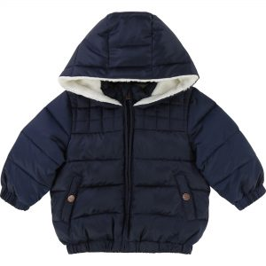 Carrément Beau  - HOODED BABY PUFFER JACKET NAVY - Clothing