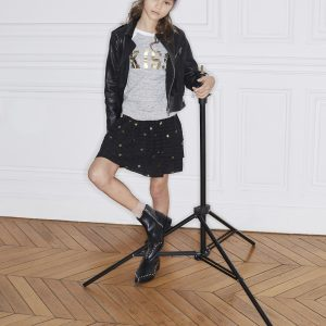 Zadig & Voltaire  - GOLDEN STAR SILK SKIRT BLACK - Clothing