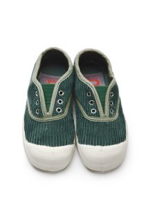 Bensimon  - KIDS ELLY TENNIS CORDUROY GREEN - Footwear