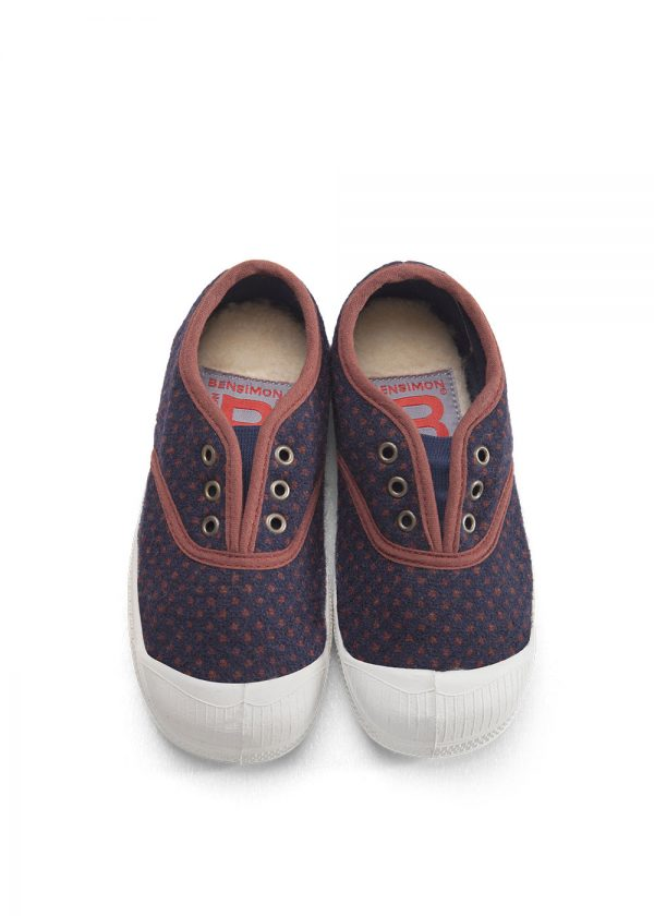Bensimon  - KIDS ELLY TENNIS WOOL DOTS - Footwear