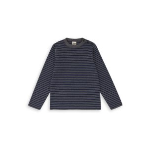 Bonton  - STRIPED SWEATER GREY - Clothing
