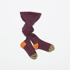 Leoca  - TIGHTS BORDEAUX ORANGE KHAKI - Clothing
