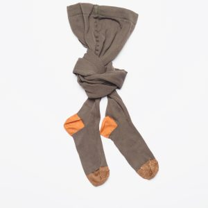 Leoca  - TIGHTS KHAKI ORANGE COPPER - Clothing