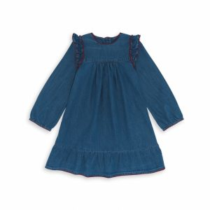 Bonton  - PAOLA CHAMBRAY DRESS BLUE - Clothing