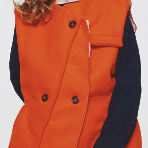 Leoca  - MATCH SLEEVELESS VEST ORANGE - Clothing