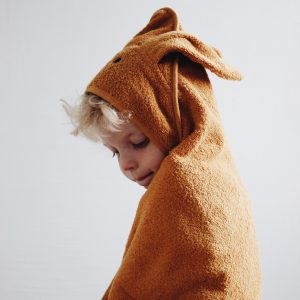 Liewood  - ALBERT HOODED TOWEL RABBIT MUSTARD - Homeware