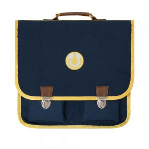 Leçons de Chose  - BIG SCHOOK BAG NAVY YELLOW - Accessories