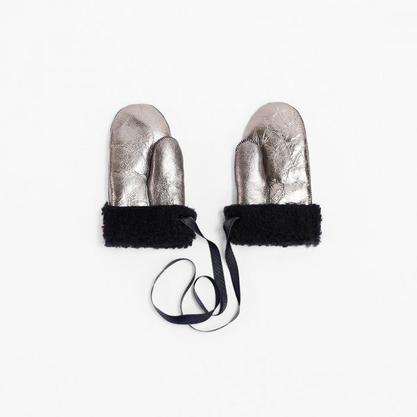 Toasties  - MITTENS KIDS METALLIC SILVER - Accessories