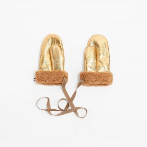 Toasties  - MITTENS KIDS METALLIC GOLD - Accessories
