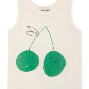 Bobo Choses  - CHERRY LINEN TANK TOP - Clothing