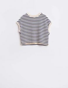 Bellerose  - MAQUA T-SHIRT BLUE STRIPE - Clothing