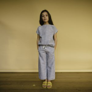 Repose AMS  - FADED SAND BLUE STRIPE CULOTTE - Clothing