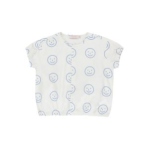 Tinycottons  - HAPPY FACE SHORT SLEEVE BLOUSE - Clothing