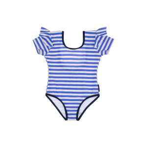 Tinycottons  - STRIPES FRILL SWIMSUIT - Clothing