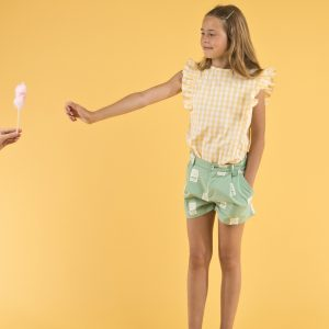 Tinycottons  - CHECK RUFFLES BLOUSE - Clothing