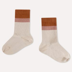 Repose AMS  - SPORTY SOCKS SAND STRIPE - Clothing