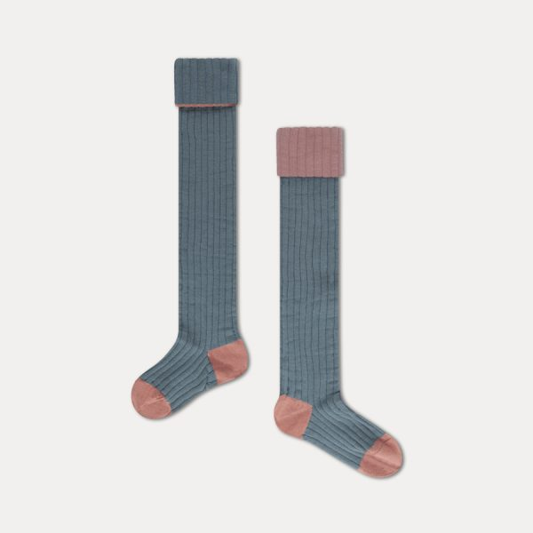 Repose AMS  - OVERKNEES SOCKS AGED BLUE - Clothing