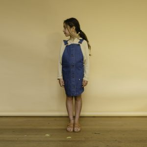 Repose AMS  - DUNGAREE DRESS DENIM BLUE - Clothing