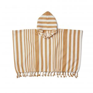 Liewood  - ROOMIE PONCHO MUSTARD STRIPE - Clothing