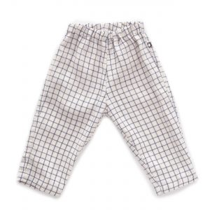 Oeuf NYC  - BEIGE BLUE CHECKS RELAXED PANTS - Clothing