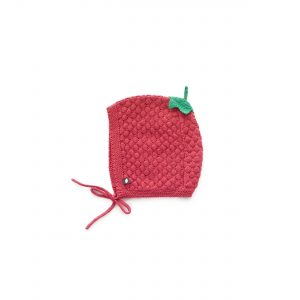 Oeuf NYC  - CRANBERRY HONEYCOMB KNIT HAT - Accessories