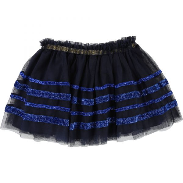 Billieblush  - MESH SKIRT NAVY - Clothing