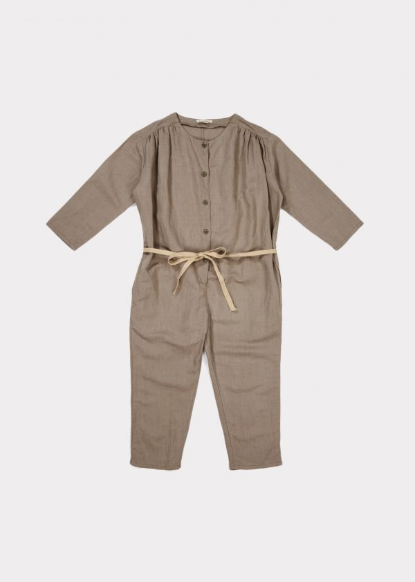 Caramel  - AZALEA JUMPSUIT STONE GREY - Clothing