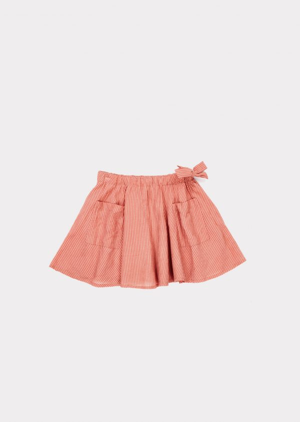 Caramel  - IRIS SKIRT CLAY - Clothing