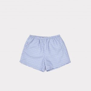 Caramel  - LAURUS SWIM SHORTS CORNFLOWER GEO PRINT - Clothing