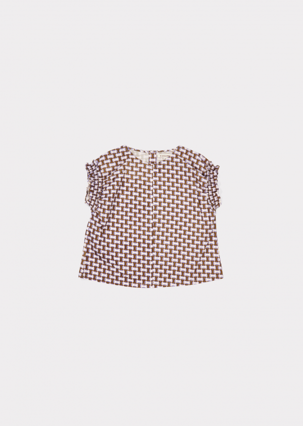 Caramel  - LAVENDER TOP LILAC GEO PRINT - Clothing