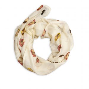 Mini Rodini  - MONKEY SCARF OFFWHITE - Accessories