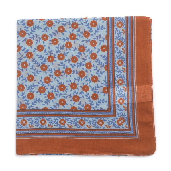 Bonton  - FLORAL SCARF FORGET ME NOT - Accessories