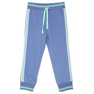 Emile et Ida  - JOGGER PANTS BLUE AND GREEN - Clothing