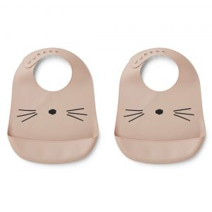 Liewood  - TILDA SILICONE BIB CAT ROSE (2 pack) - Accessories
